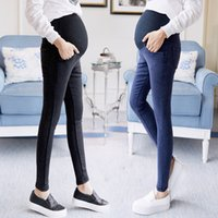 Wholesale jeans for maternity for sale - Group buy Women s Clothing Spring and Autumn Jeans Fashion Stretch Belly for Pregnant Women Maternity Wide Pants