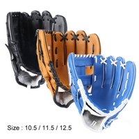 Outdoor Sports Three colors Baseball Glove Softball Practice Equipment Size 10.5 11.5 12.5 Left Hand for Adult Man Woman Train Q0114