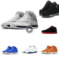 Wholesale china sneakers sports for sale - Group buy 0JXaP s Basketball Last Sneakers Mens Men Black Suede Countdown Pack Toro Og Asg Bred Xviii Trainers Tennis Man China sports shoes bas