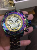 relógios invicta mens  venda por atacado-2020 Top Quality Invicta Best Selling Por causa de Vichta Palhaço Série Mens Top Marca de Luxo Relógio Tritnite Cronógrafo Relógios
