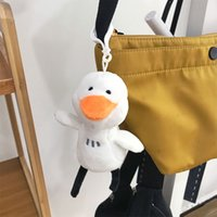 Wholesale sheep big resale online - Net Red Hello Duck Cute Plush Bell Sheep Big White Goose Key Chain Schoolbag Doll Pendant DJ
