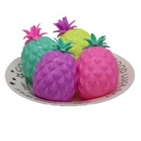 Pineapple Vent Ball Decompression Toys Fidget Funny TRP Squish Squeeze Stressball Balloon Kids TPR Anxiety Stress Relief Autism Squeezy Toy G58MXXY