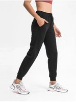 022 High Waist Yoga Pants Sport Women Quick Dry Trousers Women's Drawstring Sportswear Woman Gym Sports Casual Loose Fitness Running Leggings side pockets
