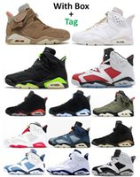 6s TS British Khaki Gold Hoops 2021 Carmine Basketball Shoes Men 6 Black Infrared Electric Green Hare DMP UNC Washed Denim Oreo Maroon Sneakers