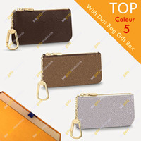Unisex Designer Key Pouch Fashion Purse M62650 M62658 M62659 Flower&chessboard High Quality Wallet Box Packaging Inventory Free Shipping