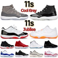 Newset 11 11s cool grey Jubilee 25th Basketball shoes Men Women sneakers low UNC legend blue white bred citrus cap and gown mens Trainers