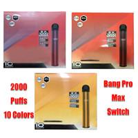Bang Pro Max Switch 2 IN 1 Disposable Device 1000mAh Battery Prefilled Pod 2000 Puff Kit XXtra Double Vape Pen VS XXL Flex