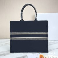 2021 new top shopping bag handbag bags fashion bags designer unisex canvas shoulder bag black woven shopping bag No shipping