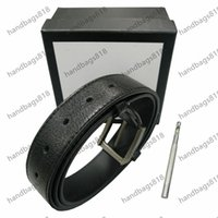 Fashion belt designer belts golden silver bronze g L buckle business womensbelt metal mensbelts wholesale casual leatherbelt man womanbelt classcial with box AAA