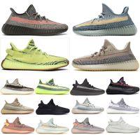 TOP Running Shoes 2021 V2 Ash Stone Blue Peal Men Women Carbon Designer Sneakers Mono Clay Mist Ice Yecheil Cinder Tail Light Black Reflective Semi Frozen Box Socks