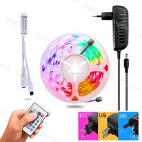 Led Strip Light Mini Controller 5050 DC12V 600LED Multicolor 24keys Waterproof Super Bright For HDTV TV Desktop Screen Background EUB