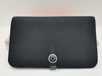 Realfine888 3A Dogon Duo Combined Wallet Togo Calfskin Leather Purse For Women with Dust Bag Box