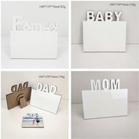 MDF Sublimation Blank Photo Frame DIY Wooden Lettering Photo Board Sublimating White Family Home Album Frame Heat Transfer Items A12