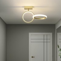 hanging circle lights 2021 - Moderno Led Lighting Chandelier for the Fashion Golden Circle Ring Hanging Lamp From Ceiling Corridor Domestic Lamps 674p