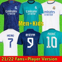 REAL MADRID jerseys 21 22 soccer football shirt CAMAVINGA ALABA HAZARD BENZEMA ASENSIO MODRIC MARCELO VALVERDE camiseta men + kids kit 2021 2022 uniforms