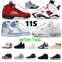 11S 11 Jubilee 25th Anniversary basketball shoes 5 Raging Bull Red 2021 Carmine Concord Bred Space Jam Hyper Royal Sneaker trainer
