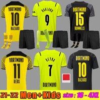 Fan Player Borussia 20 21 22 dortmund soccer jersey 2021 2022 fourth HAALAND REUS football shirts BRANDT Home away men + kids kit SIZE S-4XL