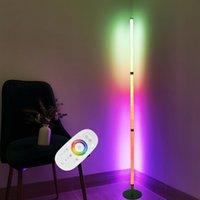 Modern LED Floor Lamp RGB Lights Colorful Bedroom Dining Room Atmosphere Lighting 360 Degrees Club Home Indoor Decor Standing light