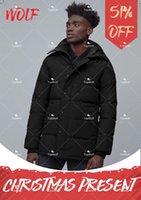 Fashion Men Winter Wolf Fu travel Down Jacket Long Parka Puffer Coats Warm Overcoat Jaqueta coat outwear