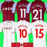 21 22 Aston Soccer Jerseys Villa Buendia 2021 2022 camisetas Home away El Ghazi Traoré GREALISH WESLEY McGINN WATKINS KODJA SANSON TARGETT Douglas Luiz football shirt