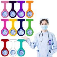 Nurse Watch Doctor Quartz Watch Silicon Batteries Watch Zebra Leopard Prints Pocket Watches Kids Gift Watches 15 Colors