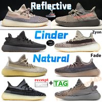 Cinder reflective running shoes zebra zyon mens sneakers beluga cream white ash blue pearl stone fade israfil natural carbon men women trainers with box