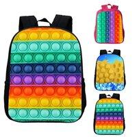 3D Printed Push Bubble Backpacks For Kids Party Favor Gifts Fidget Bag Rainbow Push Bubble Back To School Mochila Bookbag