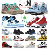 men basketball shoes 1s University Blue 4s White oreo Taupe Haze Black Cat 13s red Flint Hyper Royal women sport sneaker trainer outddor