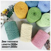 300g Hollow Knitted Crochet Yarns For DIY Handbag Purse Basket Chunky trapillo Nylon Cord Polyester Thread Round Rope Line Woven