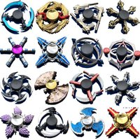 Discount plating metal hand spinners Hand Spinner Zinc Alloy Metal Fidget Spinner Fingertip Gyro Spinning Top Decompression Anxiety Toys Many Styles Mixed EWD5190