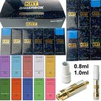 10 Strains KRT Atomizers Empty Vape Pen Cartridges Packaging Carts 1ml 0.8ml Ceramic 510 Thread Galaxy Ice Edition Thick Oil Vaporizer E Cigarettes