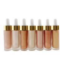 Wholesale No label Makeup shimmer liquid Foundation Cosmetics Brighten Contour Face Bronzer Highlighter Foundation Make Up Concealer