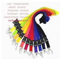 Cell Phone Straps & Charms 100pcs U A Fashion Clothing sport Detachable Neck Strap Lanyard for Keyring Key Chains Cellphone Card 2021Wholesale