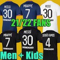 #30 MESSI 3rd Black Soccer Jerseys 21 22 #7 MBAPPE #4 SERGIO ROMAS #18 WIJNALDUM Home Blue Soccer Shirt 2021 2022 10 NEYMAR JR #11 DI MARIA #2 HAKIMI Away White Football Uniform