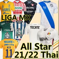 21-22 Liga MX 2021 All Star soccer jerseys 21 22 Necaxa Puebla RODRIGUEZ PINEDA ALVARADO ROMO Tigers UANL Leon Pachuca 7 Davila 13 Mena 16 Meneses football shirt