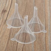 Plastic Funnel Mini Small Funnels For Perfume Liquid Essential oil filling empty bottle Packing Tool Bevel Flat 2 styles Home Use