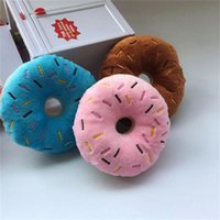 Soft Dog Donuts Plush Pet Dog Chew Toy Cute Puppy Squeaker Sound Toys Funny Puppy Small Medium Dog Interactive Toy