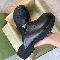slip on sandals luxurys men women slides fashion rubber Italy thick bottom with holes 2021 Design flat slipper slide floral blossom animals snake tiger