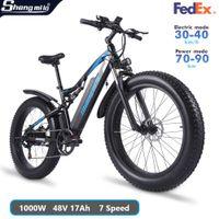 Shengmilo MX03 Electric 1000W Mountain Bike 48V Adult Fat Tire Bicycle 40km h E-bike City Moped