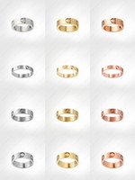 love screw ring mens rings classic luxury designer jewelry women Titanium steel Alloy Gold-Plated Gold Silver Rose Never fade Not allergic -4 5 6mm