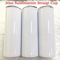 Personalized DIY 20oz Straight Skinny Tumbler Water Bottle Double Wall Thermos Sublimation Coating For Heat Transfer FY4275