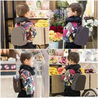 Hot Sell Kids Backpacks Fashion High Quality PU Shoulders Bags Kindergarten Baby Boys Girls School Bag Classic Printing Book Packages
