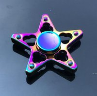 Discount plating metal hand spinners Rainbow metal fidget spinner star flower skull dragon wing hand spinner for Autism ADHD decompression anxiety stress EDC fidget toy HWF5171