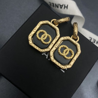 Discount celebrity earrings Designer earrings JewelleryNew square women's middle ancient carving technology Xiaoxiang Fengyun totem classic celebrity earr H235