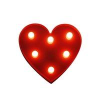 3D Love Heart Night Light LED Lights Children's BedroomTable Lamp Creative Indoor Lighting for Romantic Valentine's Day Christmas Kids Gift