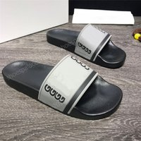 Paris Mens Womens Summer Sandals Beach Slides Slippers Ladies Flip Flops Loafers Home Office Sliders Print Leather Stylish Mark Printing Solid Color 36-46 with Box