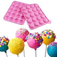 stick lollipop mold 2021 - 2021 20 hole silicone lollipop mold lollipop cake mold lollipop baking kitchen utensils free 20 paper sticks