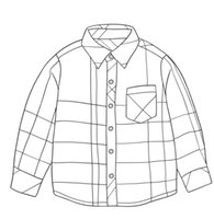 Fashion Boy Dress Shirt Khaki Plaid 3-8Y Spring New Long Sleeve Shirts Toddler Clothes