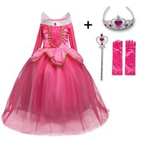 Fancy Beauty Princess Dress up Party Costume Long Sleeve 4 Layers Cosplay Long Dress Halloween Birthday Gift 201202
