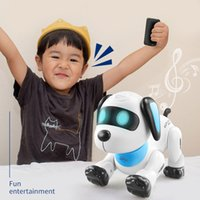 Wholesale Remote Control Robot Dog Electronic Pets Intelligent Dancing Walk Smart Dog Robot For Children New Year Christmas Gift
